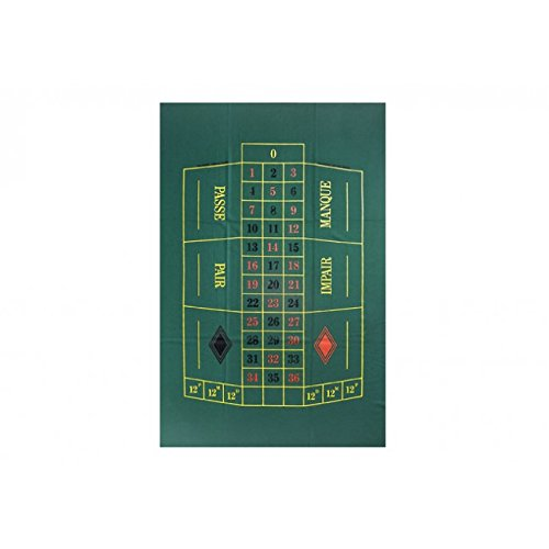Dal Negro Roulette Mat (90 x 130 cm, single 0, European style)