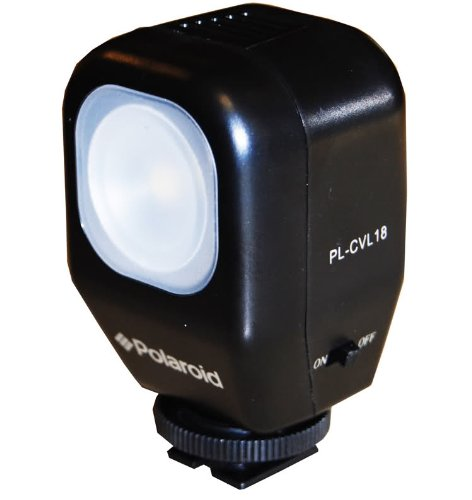 Polaroid Studio Series Camcorder Videoleuchte Mit Halterung, Netzteil, 2 Wiederaufladbare Batterien für die Panasonic SDR-S70, H100, T70, HCD-HS80, HS900, SD40, SD80, SD90, SD800, SD900, SDX1H, TM40, TM90, TM80, TM900, TM900, K Camcorder Sdr-t70-camcorder-batterie