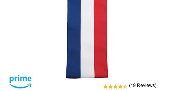 8d1a73a55a95 SANTEX 4058-0, Echarpe du Maire de 8 cm x 2 mètres, tricolore  Amazon.fr   Jeux et Jouets