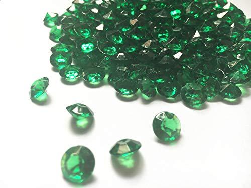 anten, 10 mm Acrylfarbe, künstliche runde Kristallsteine, 0,4 cm Tisch-Konfetti-Kristalle für Tischkonfetti, Vasenfüller, Party-Dekoration (1000 Stück) 10 mm smaragdgrün ()