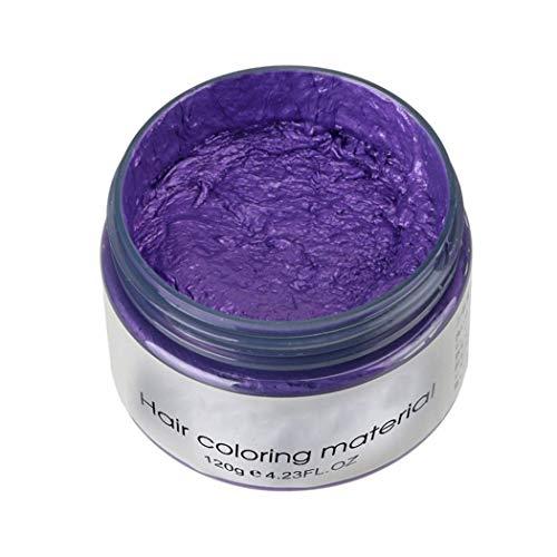 Hair Dye Wax, Unisex DIY Hair Color Clay Mud Temporary Hairstyle Molding Coloring Hair Cream
