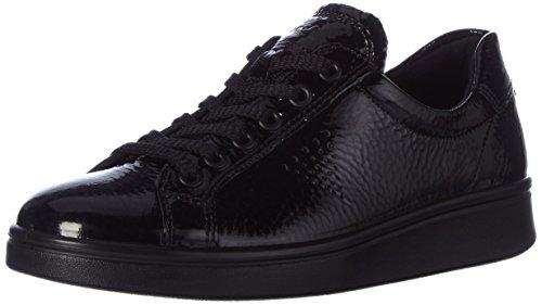 Ecco Damen Soft 4 Sneaker, Schwarz (Black), 40 EU