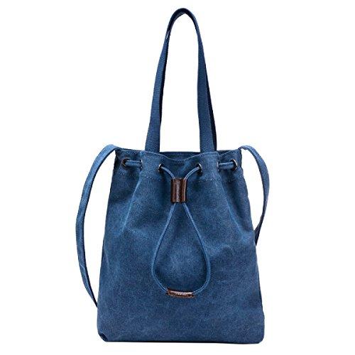 Yy.f Einfache Leinwand Handtaschen Sporttaschen Handtaschen Diagonal Segeltuchtaschen Retro Freizeit Handtaschen Bunte Taschen Grey