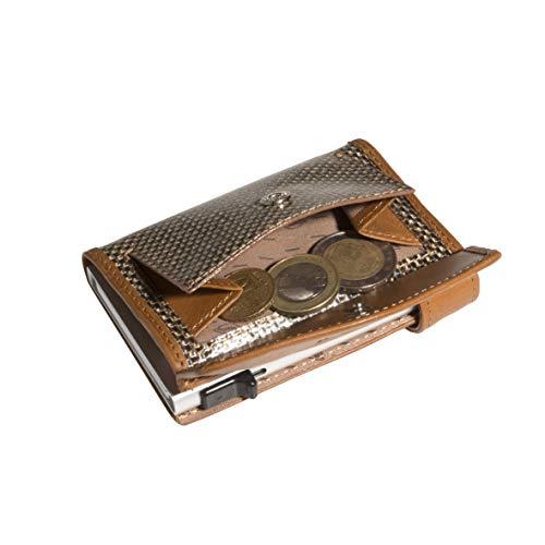 Tony Perotti TQ/CC/3700, Furbo Titanium, Kreditkartenetui mit Papier und Münzgeldfach - 3700 Papier