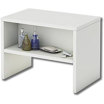 kleiner beistelltisch aus holz in wei k che haushalt. Black Bedroom Furniture Sets. Home Design Ideas
