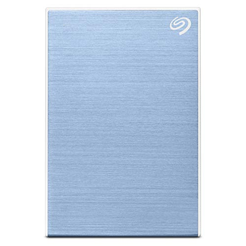 Seagate 2TB Backup Plus Slim Portable External Hard Drive with Free 2 Month Adobe CC Photography Plan - Light Blue (2019 Edition)