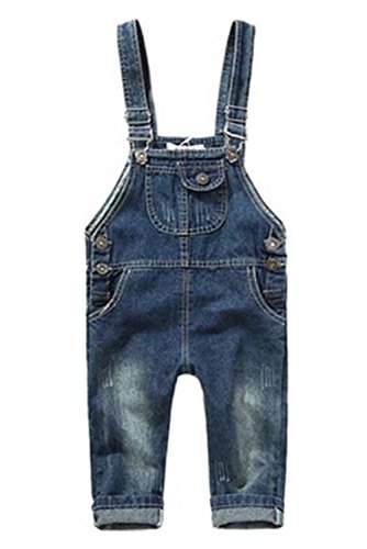 Zhuannian Unisex Baby Toddler Denim Romper Jumpsuits (3-4 years)