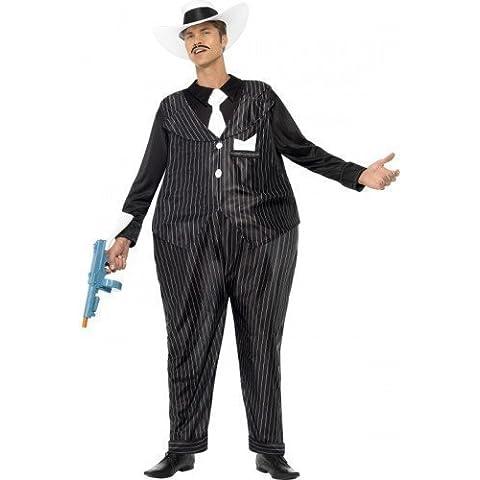 Para hombre Fat Hooped Gangster diseño de gato 1920s 30s Bugsy Malone Fancy disfraz infantil de disfraz e instrucciones para hacer vestidos