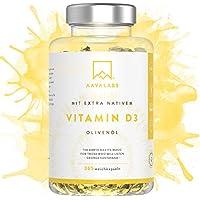 Hochdosiert Vitamin D3 [ 5000 IE ] Depot von Aava Labs - mit Extra Virgin Olivenöl für optimale Absorption – Frei von Gentechnik, Gluten und Laktose - Unterstützt Knochen-, Muskel- und Immunsystemfunktion - 365 Softgel-Kapseln.