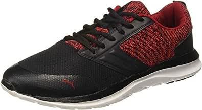 Puma Men's Black-Ribbon Red White Sneakers-6 UK/India (39 EU) (4059507764119)