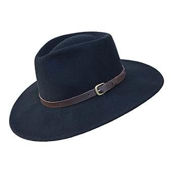 Borges   Scott B S Premium Lewis - Wide Brim Fedora Hat - 100% Wool ... 77a85b15f416
