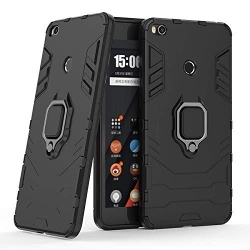 LuluMain Kompatibel mit Xiaomi Mi Max 2 Hülle, Ring Ständer Magnetischer Handyhalter Auto Caseme Schutzhülle Case für Xiaomi Mi Max2 (Schwarz)