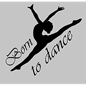Aufkleber Tanzen Nr. 8 Born to dance