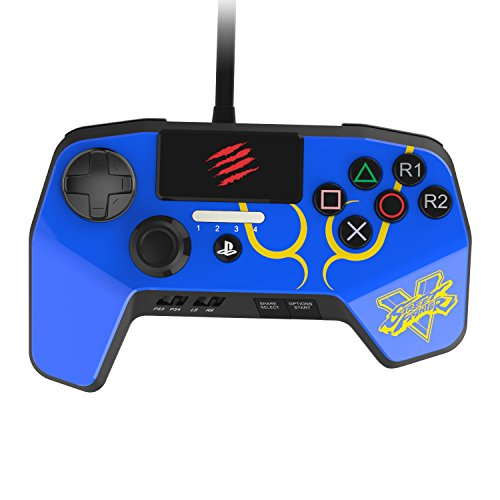 Mad Catz Street Fighter V FightPad PRO für PlayStation4 und PlayStation3 blau
