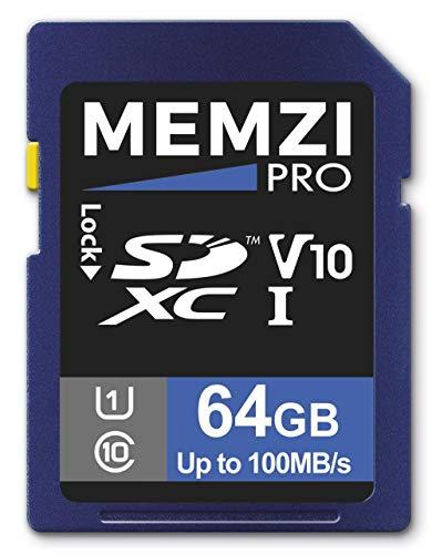 Preisvergleich Produktbild Memzi Pro SDXC-Speicherkarte für Nikon Coolpix A1000,  A900,  A300,  A100,  B700,  B600,  B500,  P1000,  P900,  W300,  W100 (64 GB,  100 MB / s,  UHS-I U1 V10,  Klasse 10)