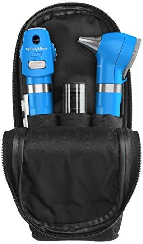 Welch Allyn 92871-blu Pocket LED Set mit 2Griffen, weiche Schutzhülle und 4Wiederverwendbare Ohr Tipps, blueberry