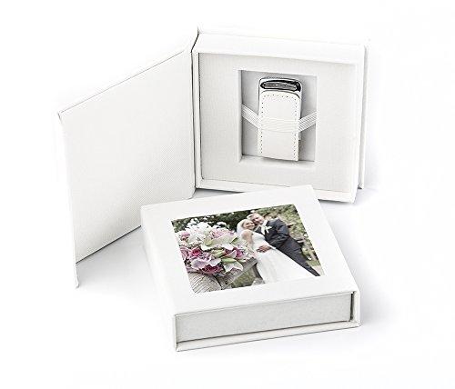 USB 3.0 Stick 16GB in eleganter USB-Box mit Bildfenster. für Hochzeit, Fotografen, Urlaubserinnerungen, Geschenk