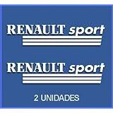 PEGATINAS RENAULT SPORT DR03 VINILO ADESIVI DECAL AUFKLEBER КЛЕЙ STICKERS CAR VOITURE SPORT RACING (BLANCO)