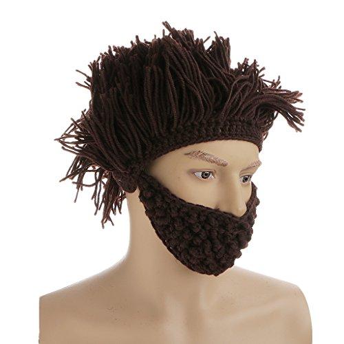 Enfants Tricot Chapeau Bonnet Barbe Costume Chapeau Cadeau Café