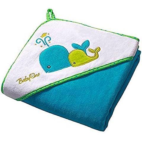 Bebé el niño toalla de baño con capucha 100 x 100 cm grande y súper suave, toalla de baño, toalla de playa, toalla de ducha, toalla de