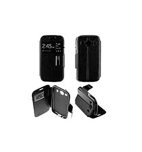 Coque Housse Etui Folio Fenêtre Samsung Galaxy Ace 4 g357 - Noir