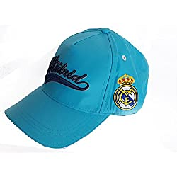 GORRA OFICIAL REAL MADRID AZUL CLARO ADULTO COTTON LIKE