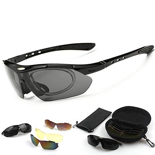 Yiph-Sunglass Sonnenbrillen Mode Radfahren im Freien Sportbrillen für Herren und Damen Linse 5-teiliges Kit Sonnenbrille Fahrrad Polarisierte Sonnenbrille Tornado Radfahren Laufen Sport-Sonnenbrille