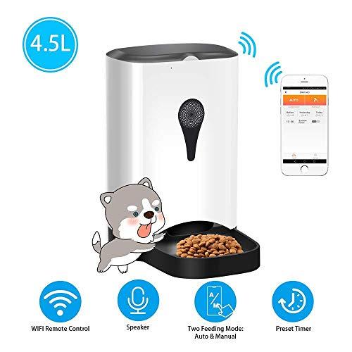 TIKEN Pet Automatic Feeder Mit Fernbedienung Für Videomonitore Wiederaufladbar Geeignet Für Hunde Katze Happy Pets -