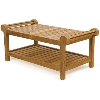 Lutyens Premium Teak Garden FULLY ASSEMBLED Coffee Table - Jati