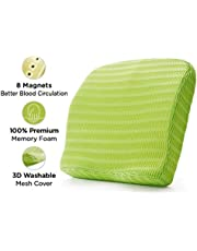 HealthSense Soft-Spot BC 21 Memory Foam Back Cushion and Orthopedic Backrest Pillow with Lumbar Support