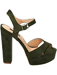 Damen Riemchen Abend Sandaletten High Heels Pumps Slingbacks Velours Peep  Toes Party Schuhe Bequem 07 6bd9f3122c