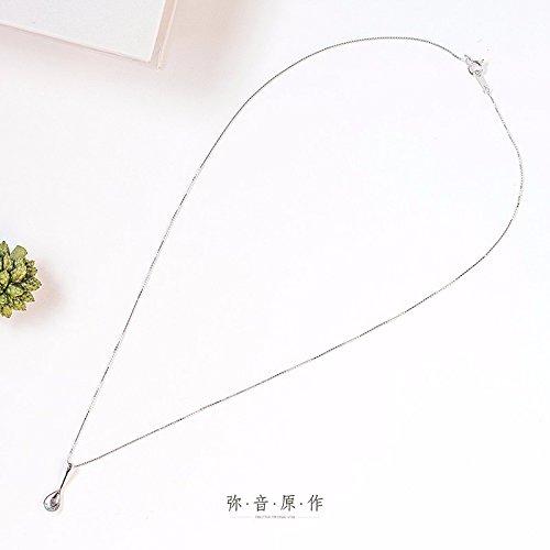 Hongrun S 925 reine Silber Halskette weiblichen Schlüsselbein Kette einfache Löffel Schmuck Anhänger kreatives Geburtstagsgeschenk Studenten (Silber Sterling Löffel)