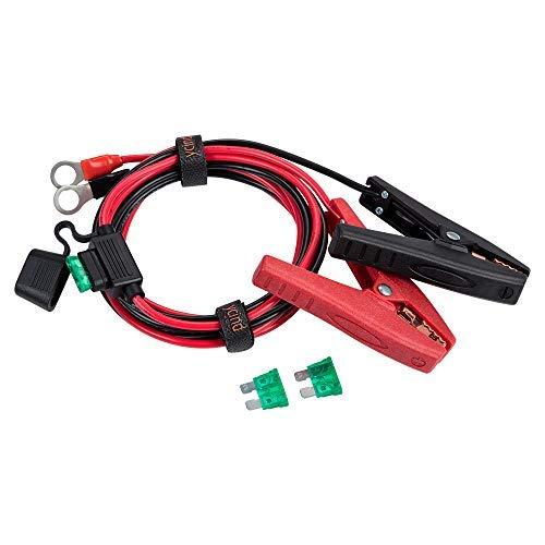 Ycind, morsetto per batteria a scatto da 1/4' e 3/8' con terminale ad occhiello, resistente 30 A (massimo 35 A), 12 V/24 V, 11 AWG, 4,0 mm2, 12 AWG, 0,9 m, 1,8 m, 3 m