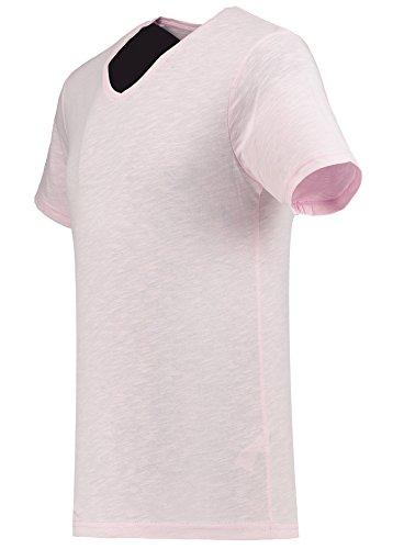 Black Rock Herren T-Shirt - 2er 3er 4er 5er Pack - V-Ausschnitt - Slim-Fit/Figurbetont - Oversize - Meliert - Kurzarm Vintage Shirt Rosa
