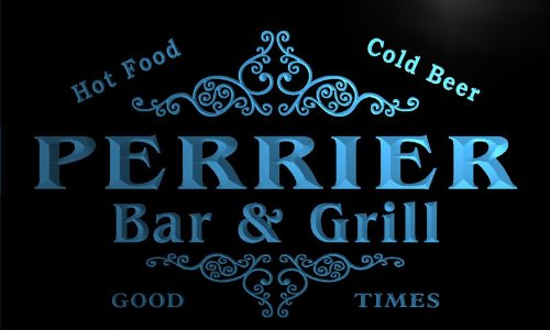 u34693-b-perrier-family-name-bar-grill-home-brew-beer-neon-sign-barlicht-neonlicht-lichtwerbung