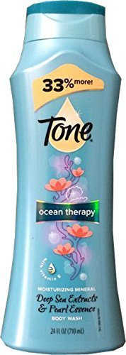 Tone Ocean Therapy Moisturizing Mineral Deep Sea Extracts & Pearl Essence Body Wash (2 Pack) by T.One