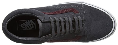 Vans U Old Skool, Baskets Basses Mixte Adulte Gris (Reptile Gray/Port Royale)