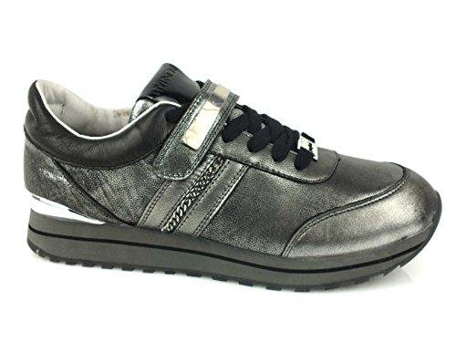 HYPNOSI Fiona sneakers donna PELLE TESSUTO PEWTER GRIGIO 37