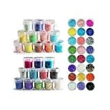 Lot 24. couleur paillette chips glitter deco ongles manucure gel acrylique de Boolavard® TM
