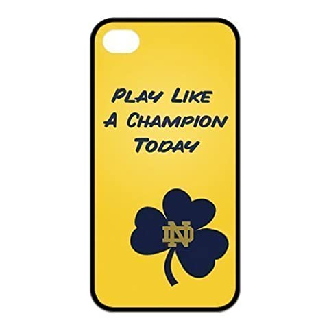 NCAA Notre Dame Fighting Irish Play Like A Champion Today Custom iphone 6 4.7 Best Rubber+PC Cover Case By Every New (Irish Ncaa)