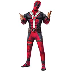 Deluxe Deadpool Movie Fancy dress costume X-Small