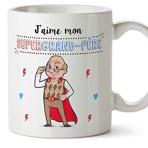 Mugffins Papi Tasse/Mug - J'aime Mon Super Grand-Père -...