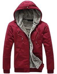 Integrity's home Mens Hoodies Zip Thick Fleece Linner Jackets Sweatshirts Winter