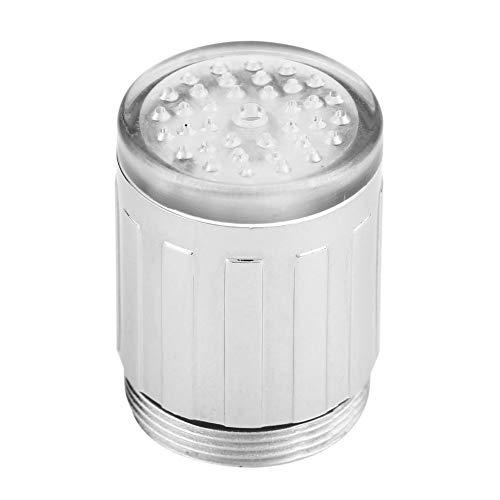 Led Duschkopf 5 Stücke Led Küchenarmatur Sprüher Tüllen Temperatur Sensing 3 Farbwechsel Led Licht Wasserhahn Küche