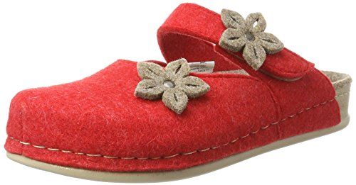 Manitu 320495, Pantofole Donna Rosso (Rot)