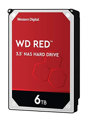 Western Digital WD Red interne Festplatte 6 TB (3,5 Zoll, NAS Festplatte, 5400U/min, SATA 6 Gbit/s, NASware-Technologie, für NAS-Systeme im Dauerbetrieb) rot