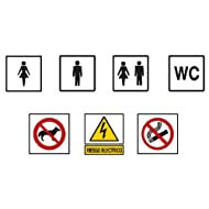 2349b14Signal 100x 100-adhésif WC Frauen