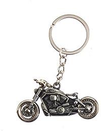 Techpro Silver Colour Bike Model Metal Keychain With Harley Davidson Design