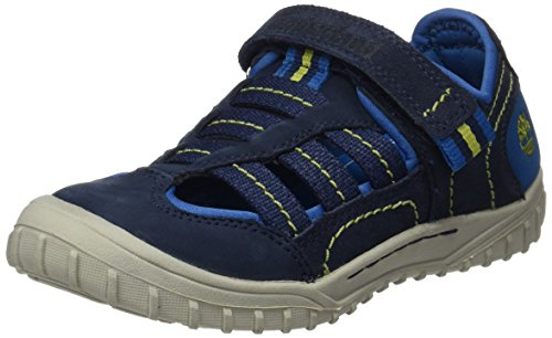 Timberland Unisex-Kinder Castleton Sporty Fishermanavy Sandalen, Blau (Navy Naturebuck w/Canvas), 31 EU