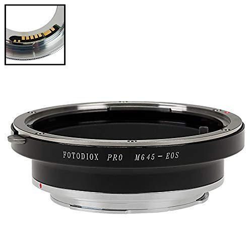 Fotodiox Pro Lens Mount Adapter kompatibel mit Mamiya 645 (M645) Mount Lenses to Canon EOS (EF, EF-S) Mount D/SLR Camera Body - with Gen10 Focus Confirmation Chip -